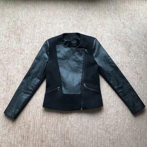 Zara Faux Leather Zip Up Blazer